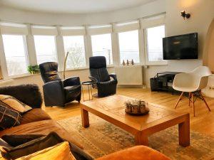 Mooi uitzicht vanuit de woonkamer over de Ardennen